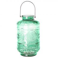 Windlicht Bügel, Orient, grün, 38 cm