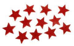 12er Set Deko-Sterne, rot