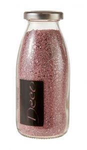 Glitter-Dekosand, Sterne, altrosa/rosa