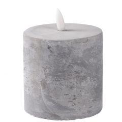LED-Kerze, Beton, 11 cm