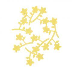 8er Set Streudeko Blüten, gelb