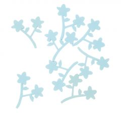 8er Set Streudeko Blüten, hellblau