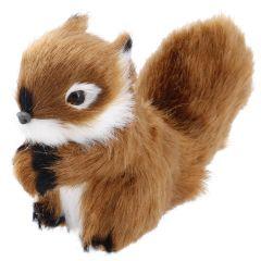 Waldtier Kunstfell, Eichhörnchen/dunkelbraun, 10 cm