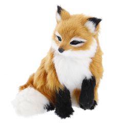 Fuchs Kunstfell, sitzend, 13 cm