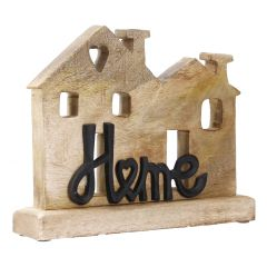 Schriftzug Home, Häuser, schwarz