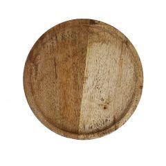 Deko-Schale Holz, rund, 30 cm