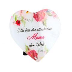 Deko-Herz, allerliebste Mama, 15 x 15 cm