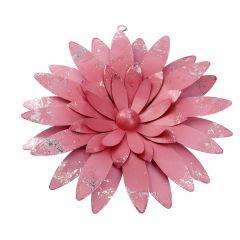 Blumen-Wanddeko, rosa, 26 cm
