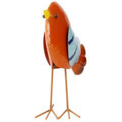Wackel-Vogel, bunt, orange/blau, 22 cm