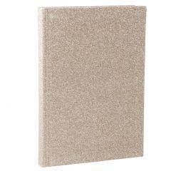 Notizbuch Glitter, A5, gold