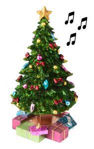 Spieluhr Weihnachtsbaum mit Geschenken
