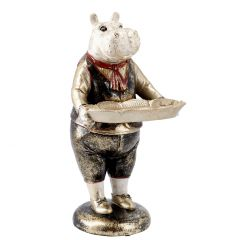 Tier mit Tablett Antik, Hippo, 30 cm