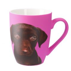 Becher Tier/Neon, Labrador/pink, 320 ml