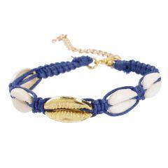 Armband Muscheln, dunkelblau