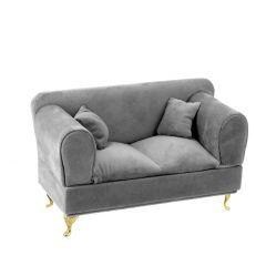 Schmuckbox Sofa, dunkelgrau, 24 x 12 cm