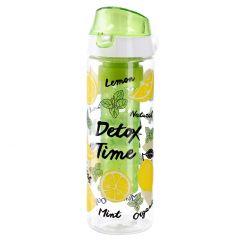 Detox-Trinkflasche mit Einsatz, Zitrone, 650 ml