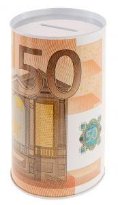 Spardose Euroschein, 50 Euro, 8 x 12 cm