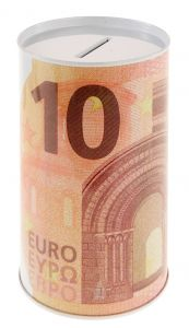 Spardose Euroschein, 10 Euro, 8 x 12 cm