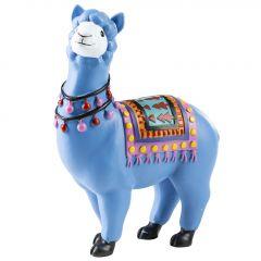 Lama, stehend, blau, 16 cm