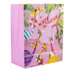 Geschenktüte Funny, Flamingo, pink