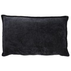 Kissen Chenille, schwarz, 36 x 58 cm