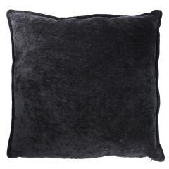 Kissen Chenille, schwarz, 50 x 50 cm