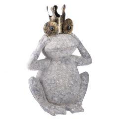 Frosch Krone, grau, 53 cm