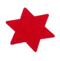 Filz-Untersetzer Stern, rot, 13 cm