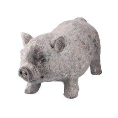 Schwein Eberhart, grau/gold, 53 cm