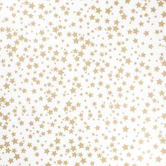 Geschenkpapier Stern, natur, gold, 5 x 1 m