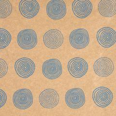 Geschenkpapier Nature/Kraft, Kreise, 2 m