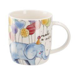 Becher B-Day, Tier/Ballon, Elefant, 350 ml