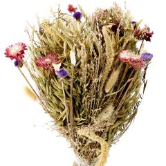 Strauß Strohblume in Papier, lila