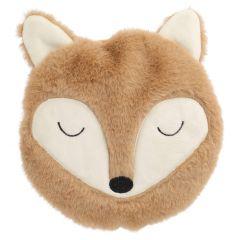 Kirschkernkissen Fuchs, flauschig, braun