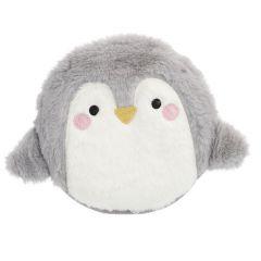 Kirschkernkissen Pinguin, flauschig, grau/weiß