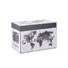 Box Weltkarte, 30 x 18 x 20 cm