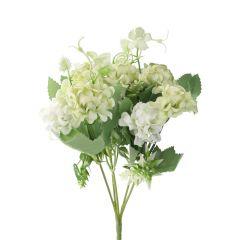 Strauß Pastellblumen, grün/weiß, 28 cm