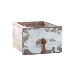 Pflanz-Schublade, eckig, türkis, 16 cm