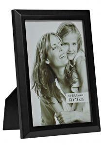 Bilderrahmen Holz, schwarz, 13 x 18 cm