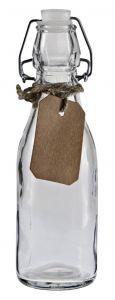 Vorratsflasche mit Label, rund, 250 ml