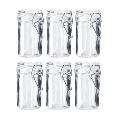 6er Set Vorratsglas mit Bügelverschluss, 75 ml