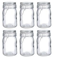 6er Set Vorratsglas mit Bügelverschluss, 250 ml