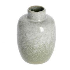 Vase Edel, glänzend, bauchig, mintgrün