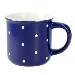 Becher Pia, Punkte, blau, 300 ml