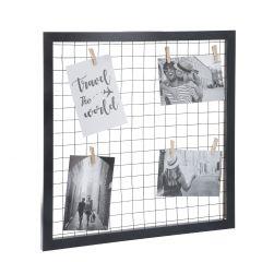 Rahmen Klammern, Gitter, schwarz, 43 cm