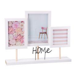 Bilderrahmen Collage, weiß, Home, 3er
