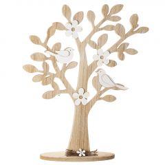 Deko-Baum, Blüten/Vögel, 39 cm