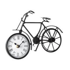 Uhr Fahrrad, Nostalgie, schwarz
