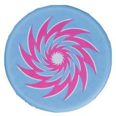 Wurfscheibe Stoff, blau, 30 cm