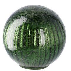 Deko-Kugel Craquele, grün/glänzend, 13 cm